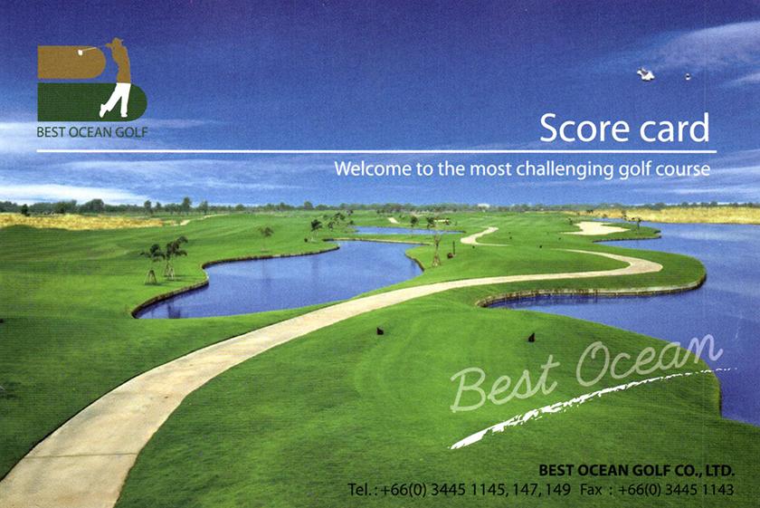ベストオーシャンゴルフコース スコアカード(表紙)
