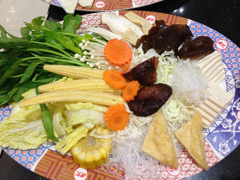 2012年に食べたもの MKレストランのタイスキ(野菜)