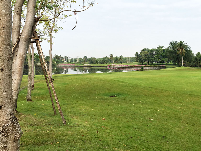クリサダシティゴルフヒルズ タイのゴルフ場なので池はある