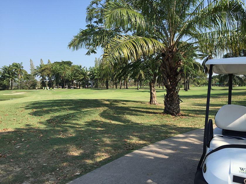 ウィンザーパーク&ゴルフクラブ 木陰は涼しい