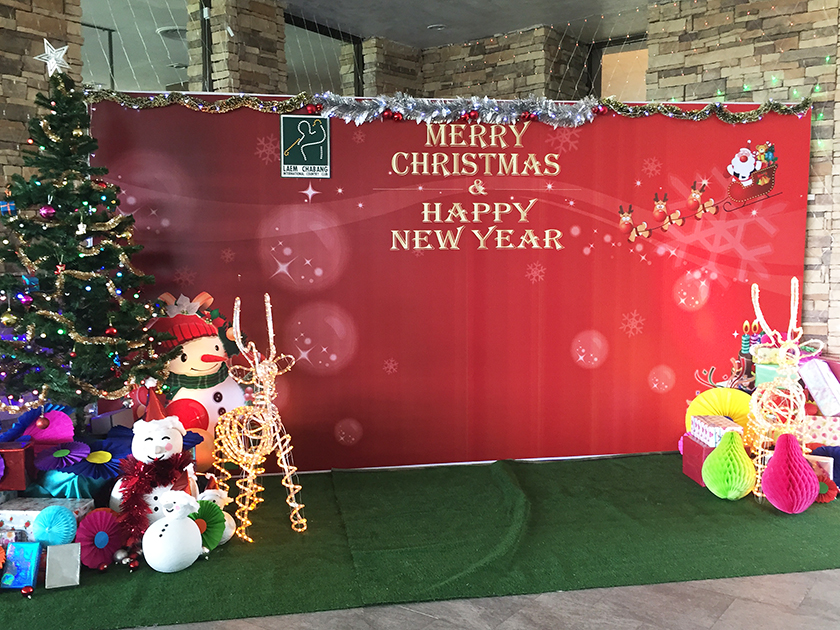 レムチャバンカントリークラブ クリスマスの装飾