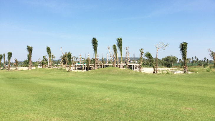 パリチャーゴルフリンクス 建設途中のゴルフ場