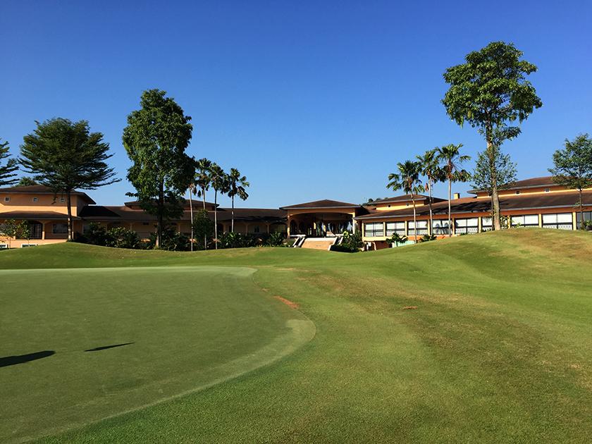 カスカタゴルフクラブ Aコース9番のグリーン