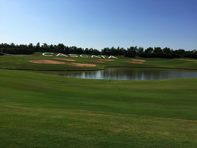 カスカタゴルフクラブ Dコース6番のCASCATA名物