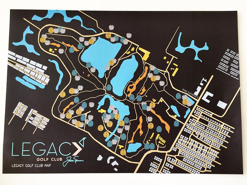 ザ レガシーゴルフクラブ コース図のランチョンマット