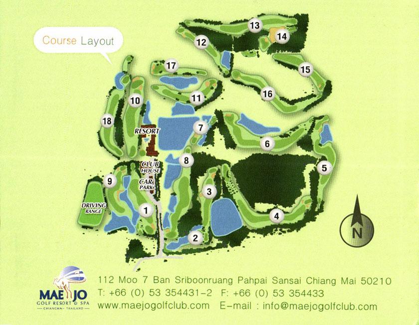 メージョーゴルフリゾート スコアカード コース図