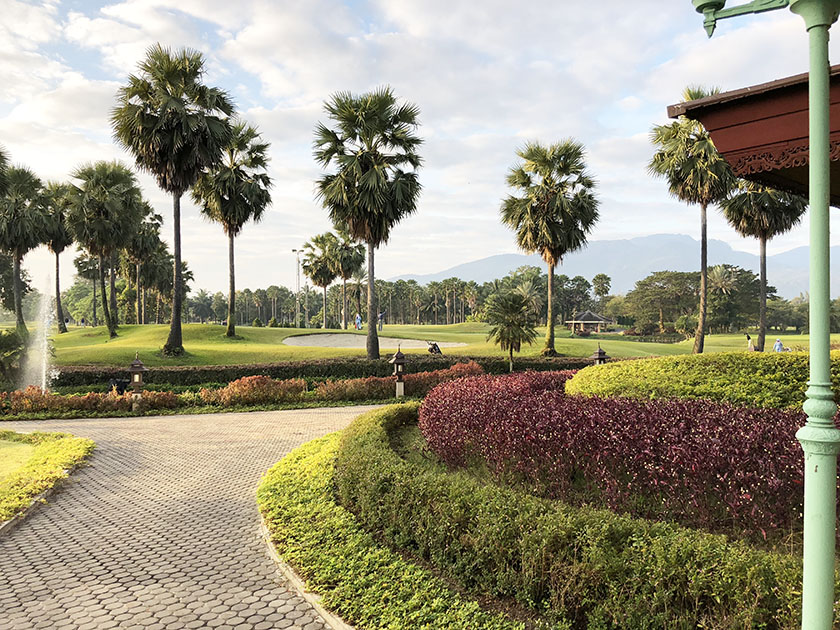 タイ・チェンマイゴルフ旅 ヤシの木いっぱいの南国コース