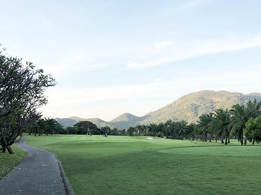 パームヒルズゴルフリゾート&カントリークラブ コースはほぼ平ら