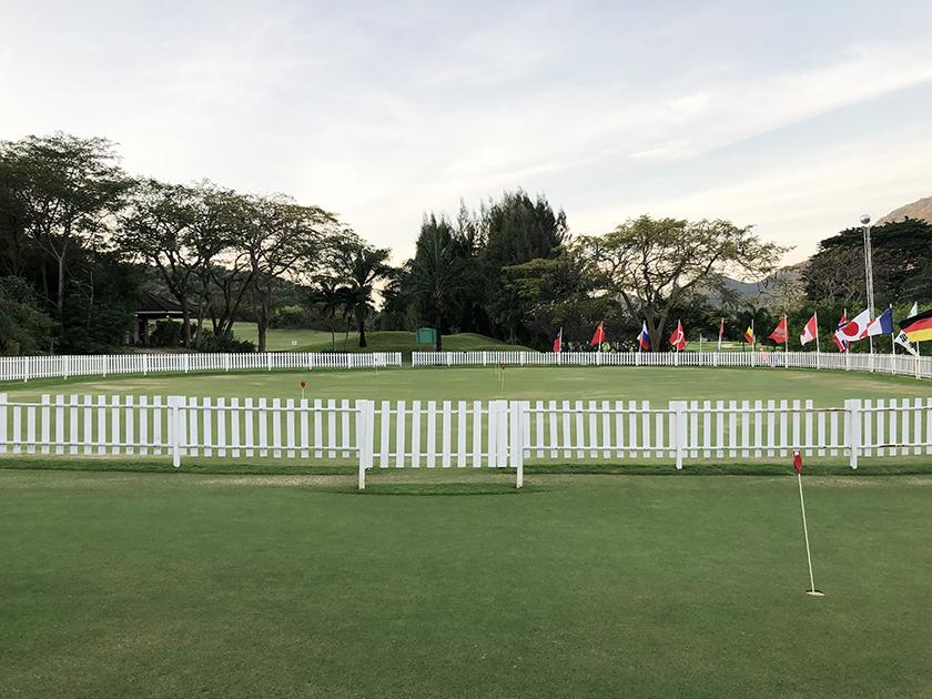 パームヒルズゴルフリゾート&カントリークラブ 素晴らしい練習グリーン