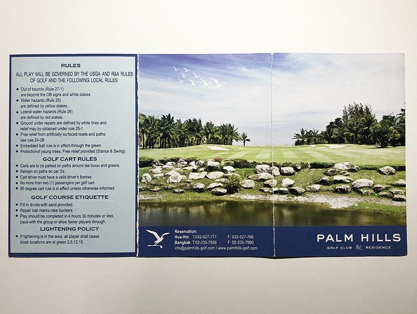 パームヒルズゴルフリゾート&カントリークラブ スコアカードの表紙