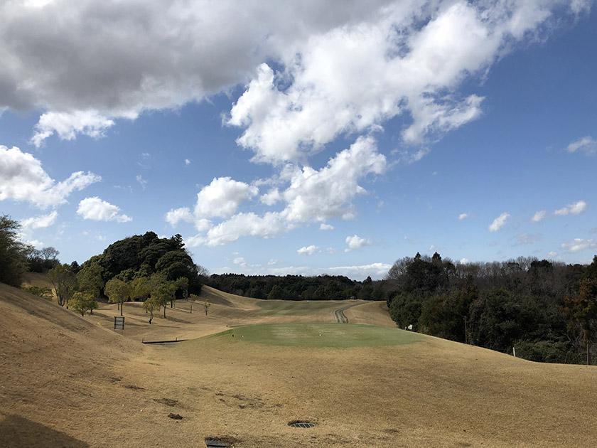 茨城セントラルゴルフクラブNEWコース 青空が見えてきた