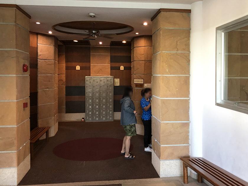 カオキオカントリークラブ ロッカーの入口