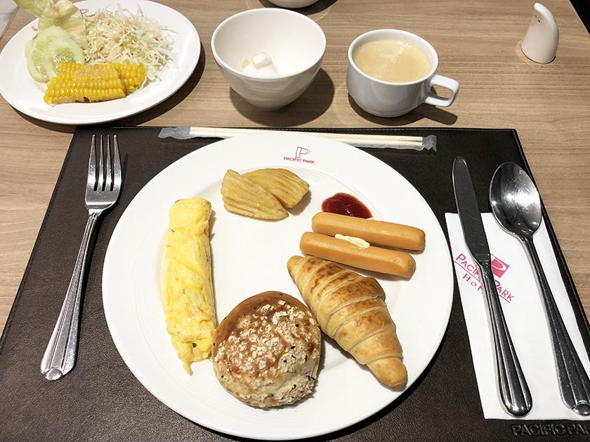 マロンカフェの朝食ビュッフェ 最終日の朝食