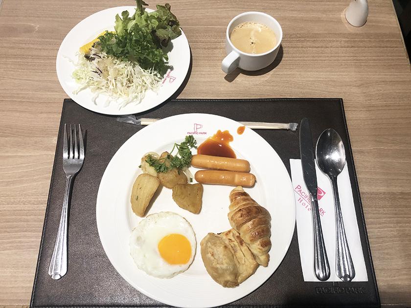 マロンカフェの朝食ビュッフェ 2日目の朝食