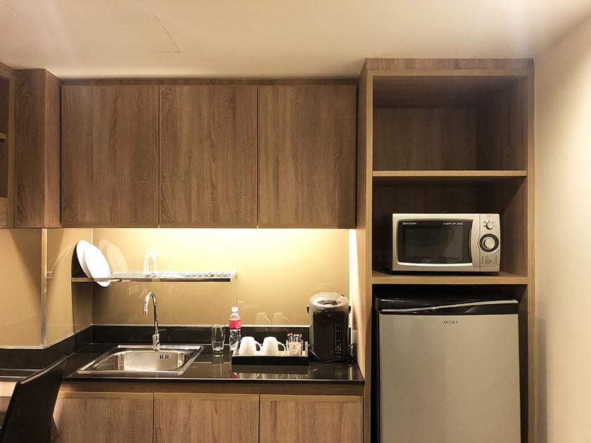 パシフィックパークホテルの部屋 冷蔵庫&キッチン