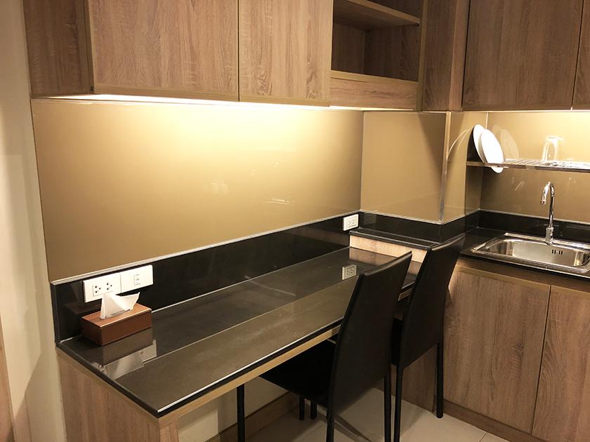 パシフィックパークホテルの部屋 キッチンの横のスペース