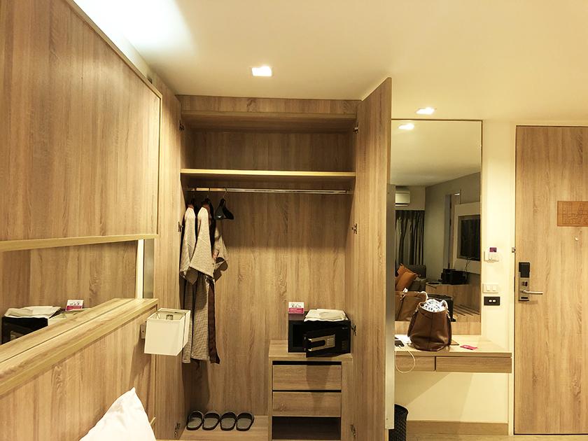 パシフィックパークホテルの部屋 クローゼット