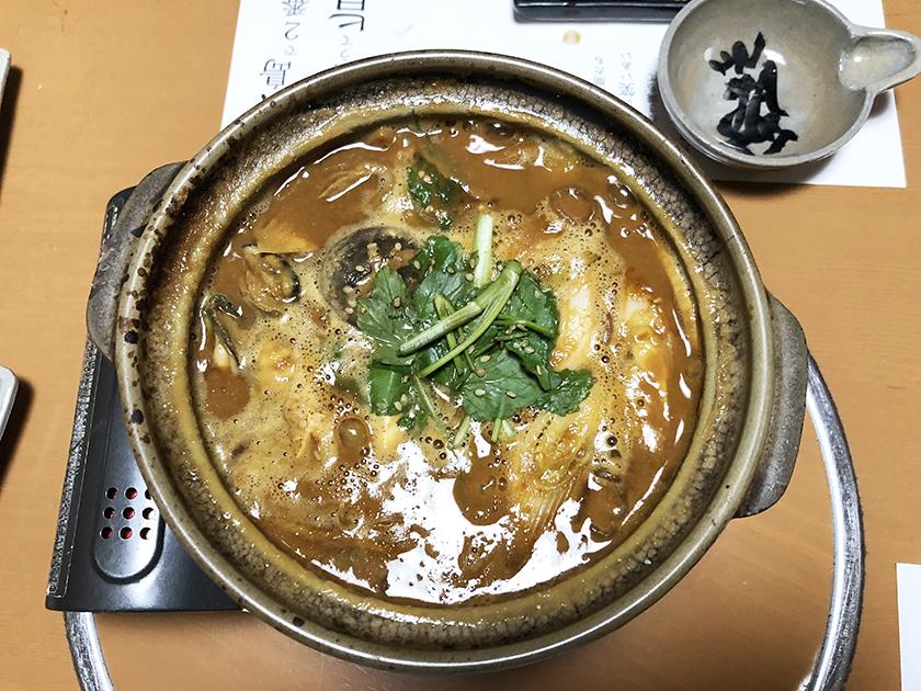 牡蠣の土手鍋 釜飯酔心本店